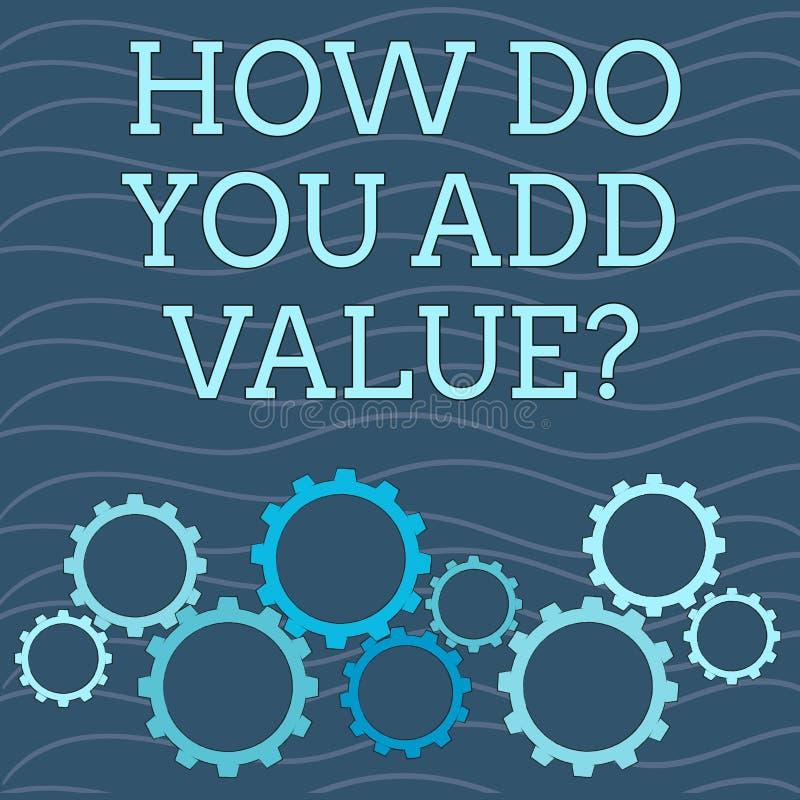 Apparence de note d'écriture comment vous ajoutez la question de valeur La présentation de photo d'affaires améliorent la product illustration libre de droits