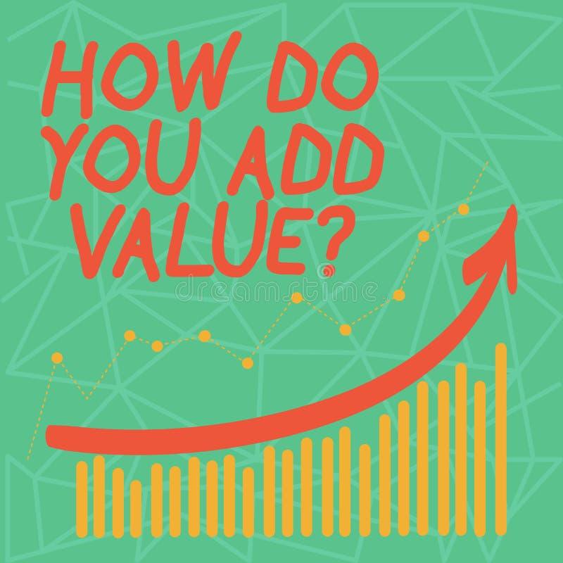 Apparence de note d'écriture comment vous ajoutez la question de valeur La présentation de photo d'affaires améliorent la product illustration stock