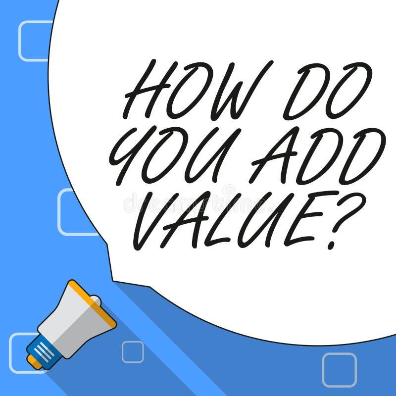 Apparence de note d'?criture comment vous ajoutez la question de valeur La pr?sentation de photo d'affaires am?liorent la product illustration libre de droits