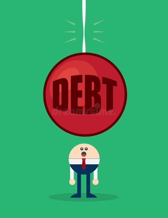Apparence vague de dette de caractère illustration libre de droits