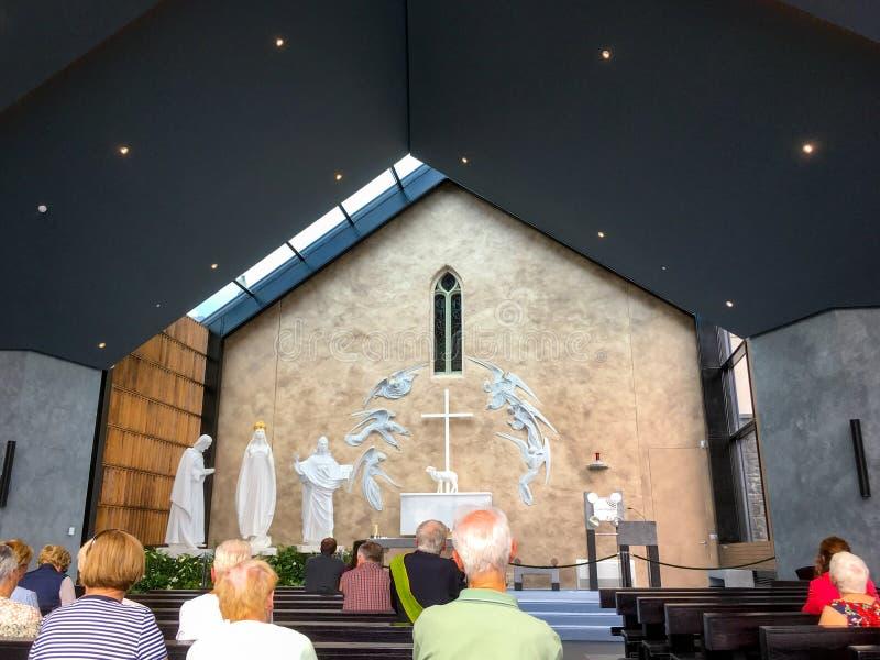 Apparition kaplicy puknięcia okręg administracyjny Mayo Irlandia fotografia stock