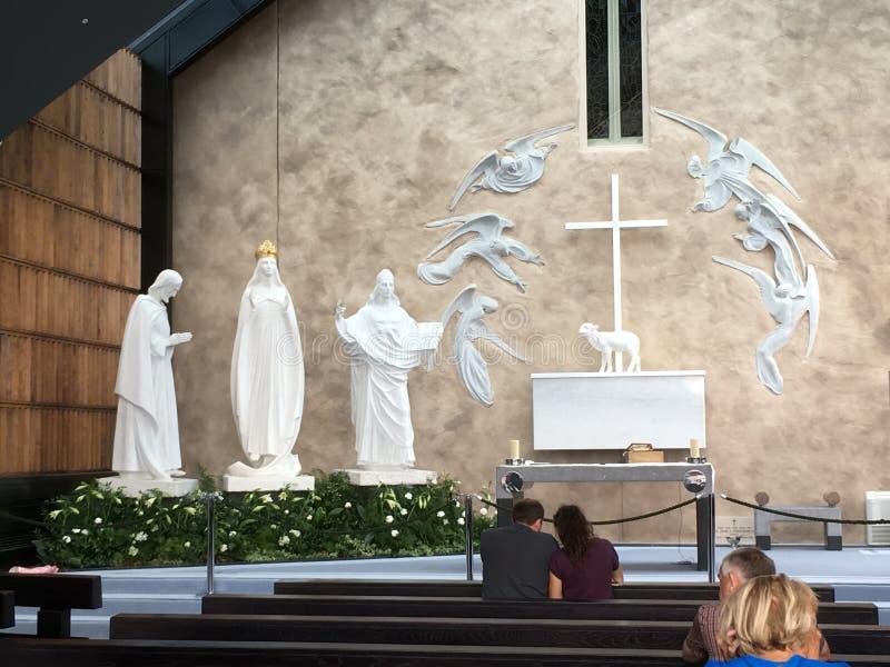 Apparition kaplicy puknięcia okręg administracyjny Mayo Irlandia obrazy stock