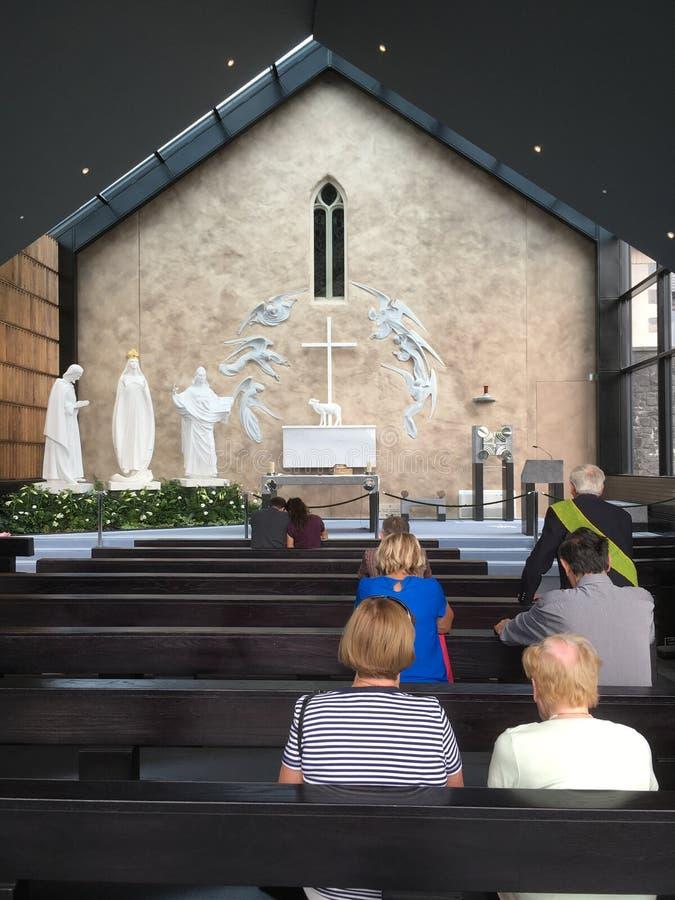 Apparition kaplicy puknięcia okręg administracyjny Mayo Irlandia obraz royalty free
