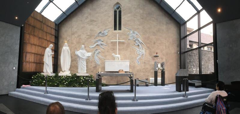 Apparition kaplicy puknięcia okręg administracyjny Mayo Irlandia zdjęcia royalty free