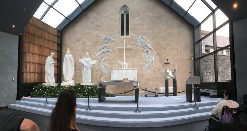Apparition kaplicy puknięcia okręg administracyjny Mayo Irlandia zdjęcia stock