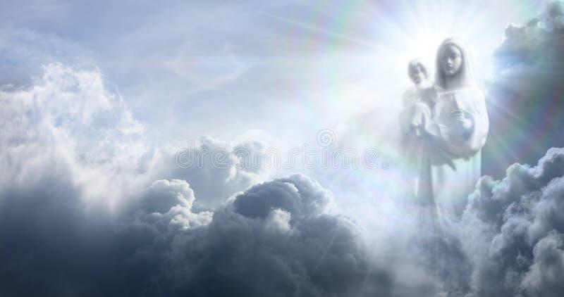 Apparition maryja dziewica Jezus dziecko I fotografia stock