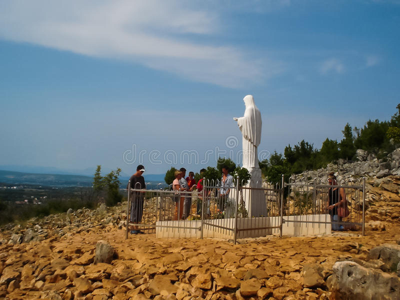 Apparition wzgórze w Medjugorje zdjęcie royalty free