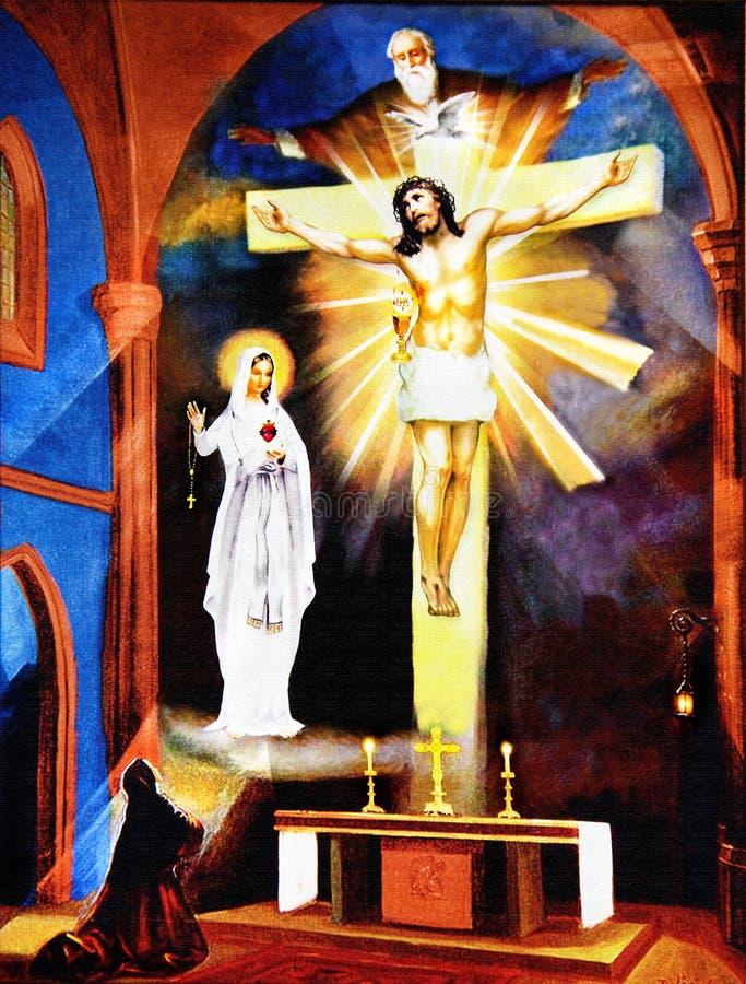 Apparizione della st Faustyna Kowalska immagine stock libera da diritti