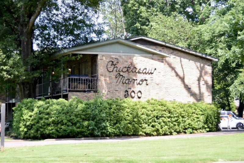 Appartamenti della proprietà terriera di Chickasaw, Memphis, TN fotografia stock libera da diritti