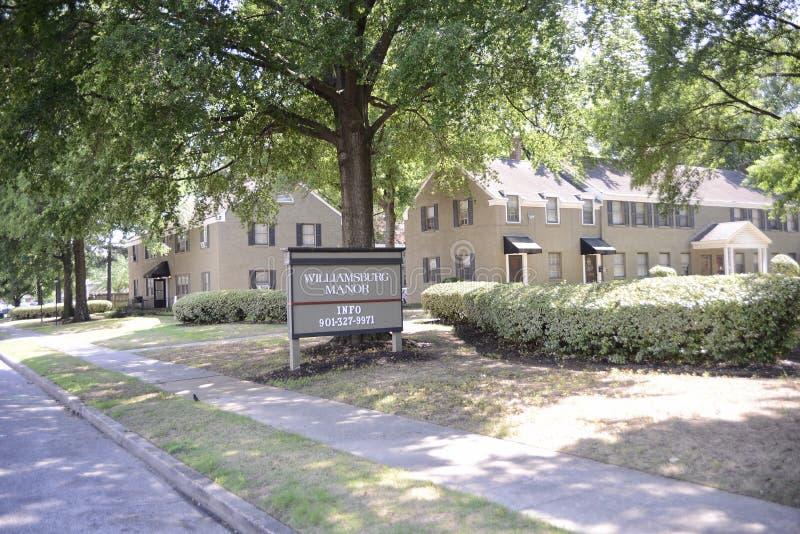Appartamenti della proprietà terriera di Williamsburg, Memphis, TN fotografia stock