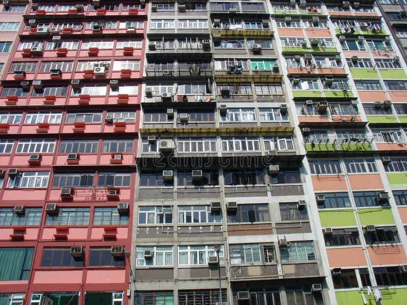 Appartamenti di Hong Kong fotografie stock libere da diritti