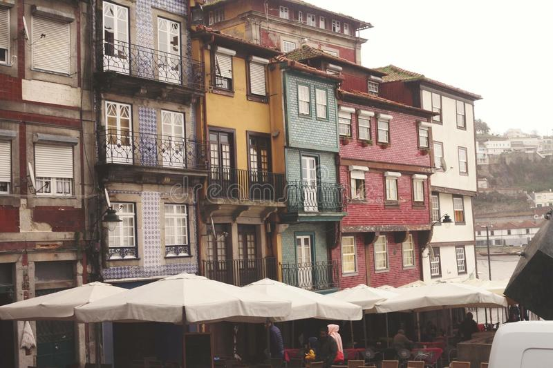 Appartamenti di Oporto immagine stock