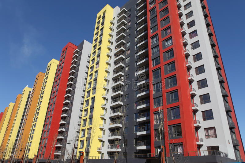 Palazzine di appartamenti moderne immagine stock for Appartamenti moderni immagini