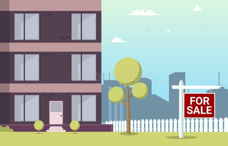 Appartamento del fumetto dell'illustrazione di vettore da vendere illustrazione vettoriale