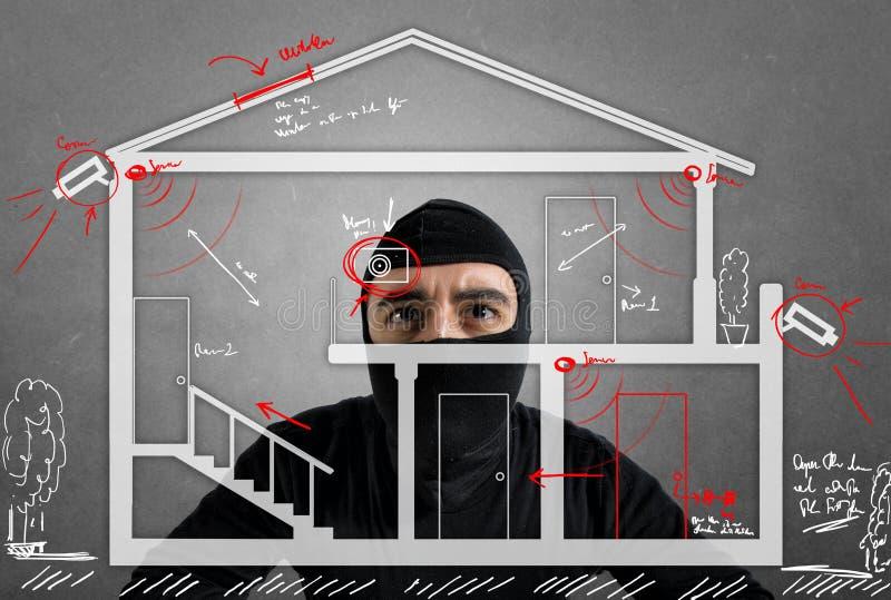 Appartamento del ladro immagini stock libere da diritti