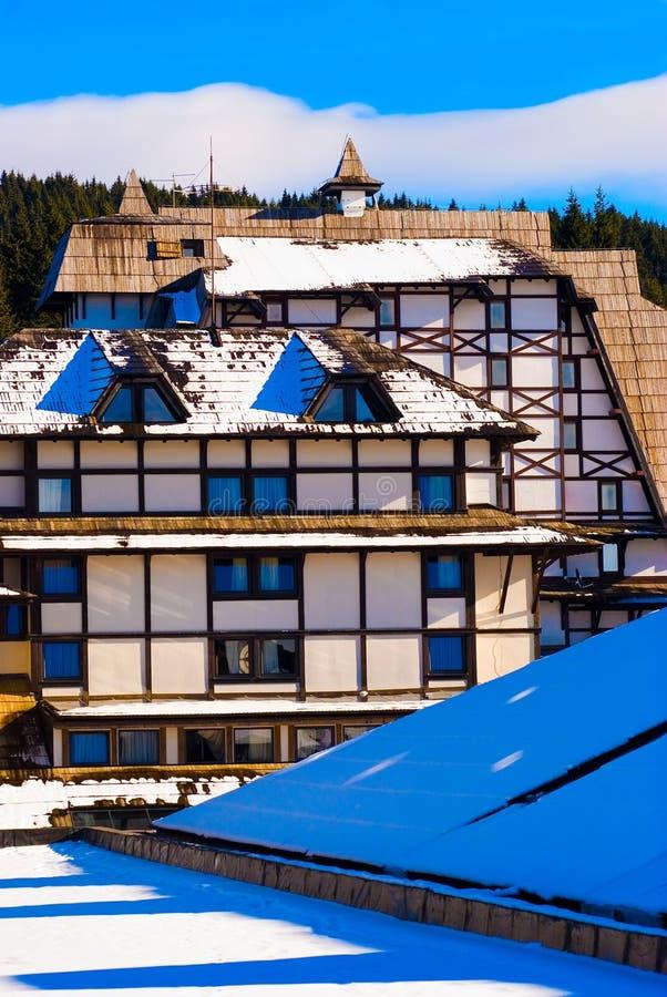 Appartamento della montagna fotografie stock