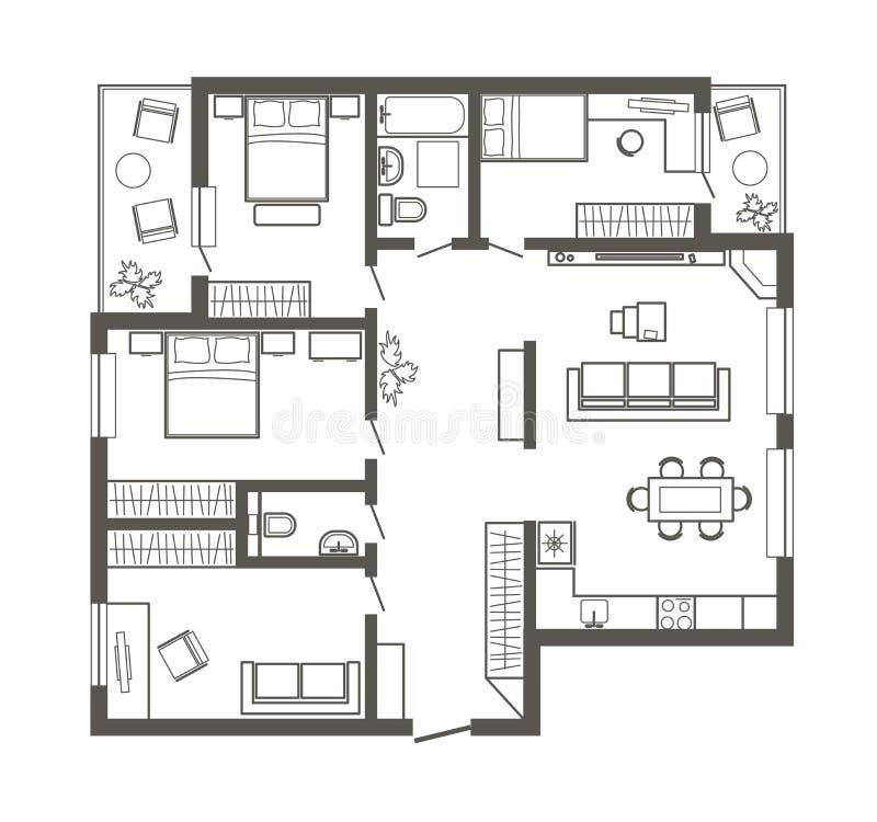 Appartamento a quattro stanze da letto del progetto di - Programma progetto casa ...