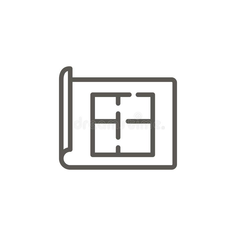 Appartement, architecte, icône de vecteur de plan Illustration simple d'?l?ment de concept d'UI Appartement, architecte, icône de illustration libre de droits
