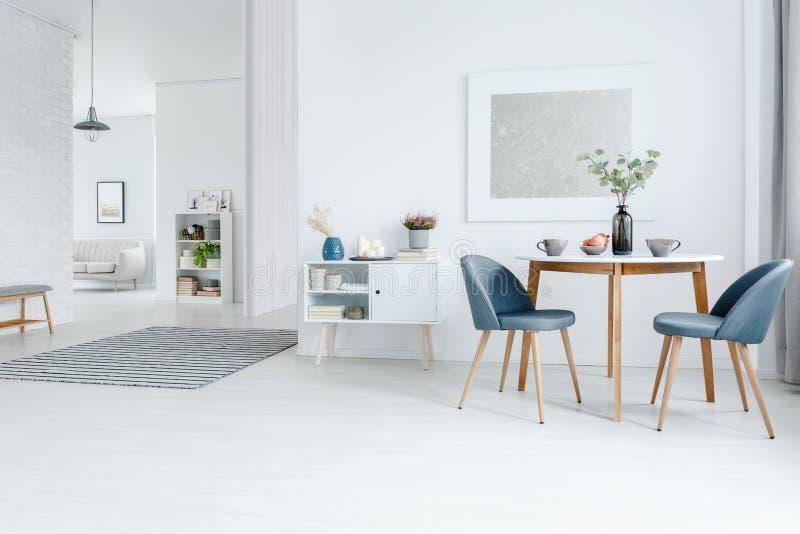 Appartement Blanc De L'espace Ouvert Image stock - Image du peinture, pièce: 113815043