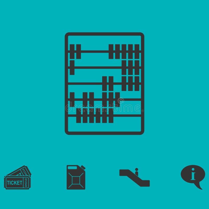 Appartement d'icône d'abaque illustration de vecteur