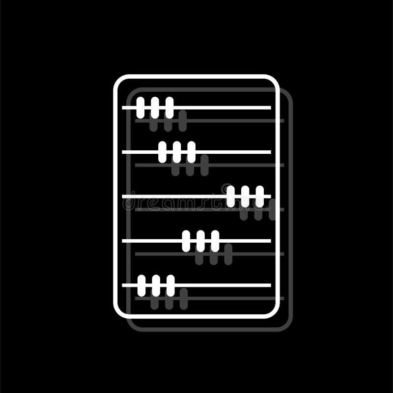 Appartement d'icône d'abaque illustration stock