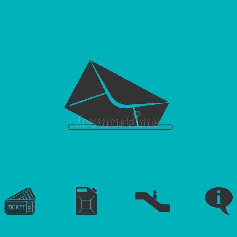 Appartement d'icône de boîte aux lettres illustration stock