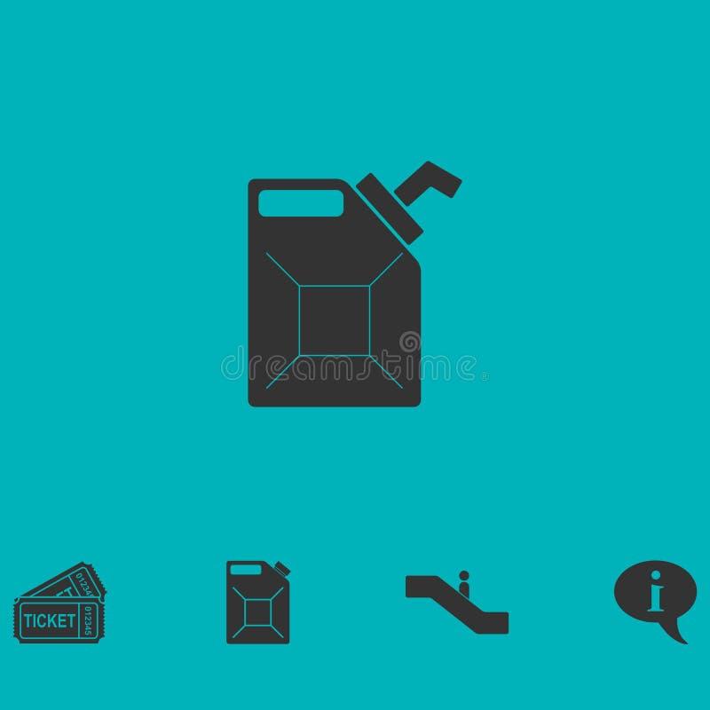 Appartement d'icône de boîte métallique illustration de vecteur