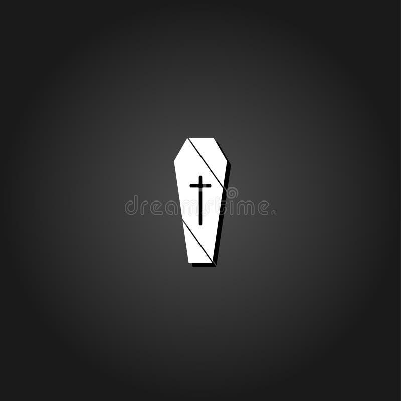 Appartement d'icône de cercueil illustration stock