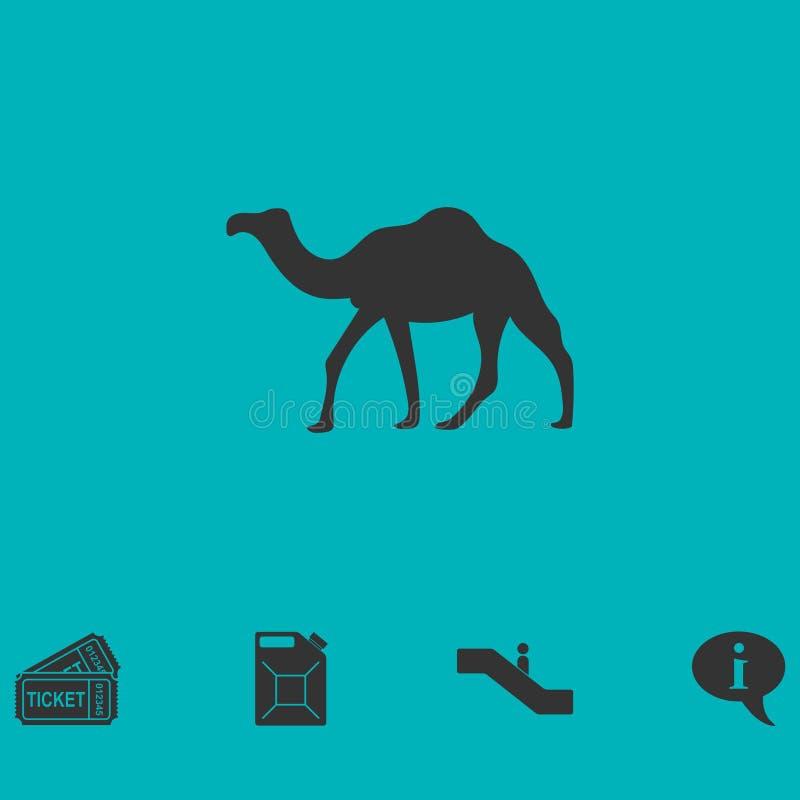 Appartement d'icône de chameau illustration stock