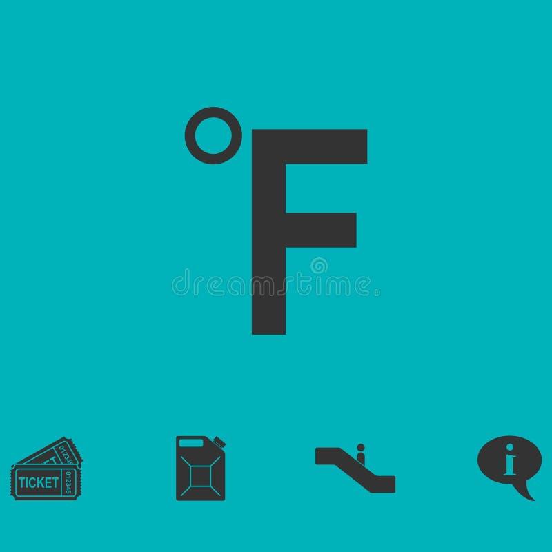 Appartement d'icône de Fahrenheit illustration stock