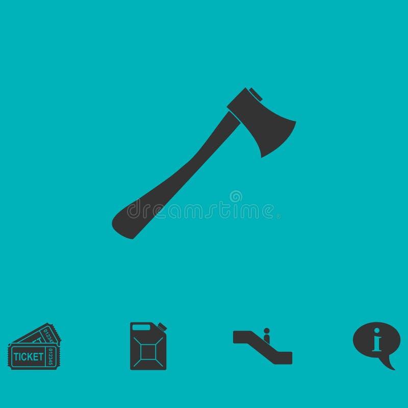 Appartement d'icône de hache illustration libre de droits