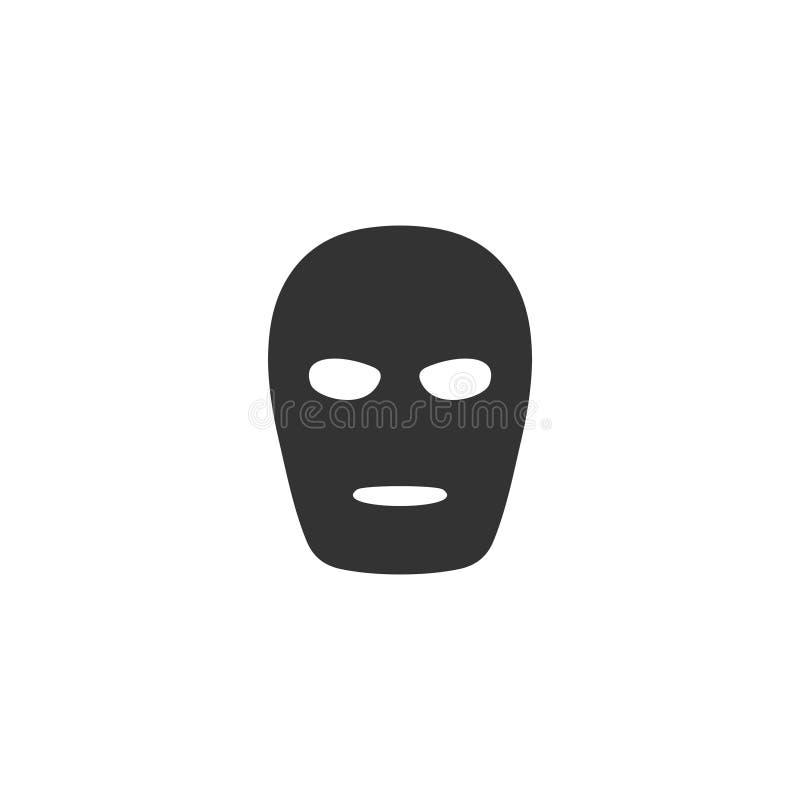 Appartement d'icône de masque illustration stock