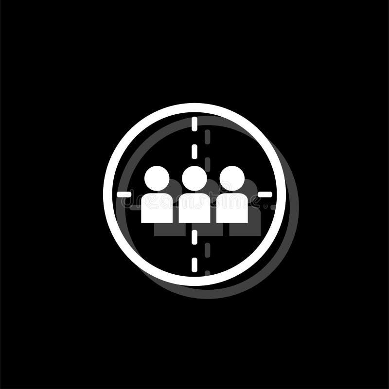 Appartement d'icône de mise à mort illustration de vecteur