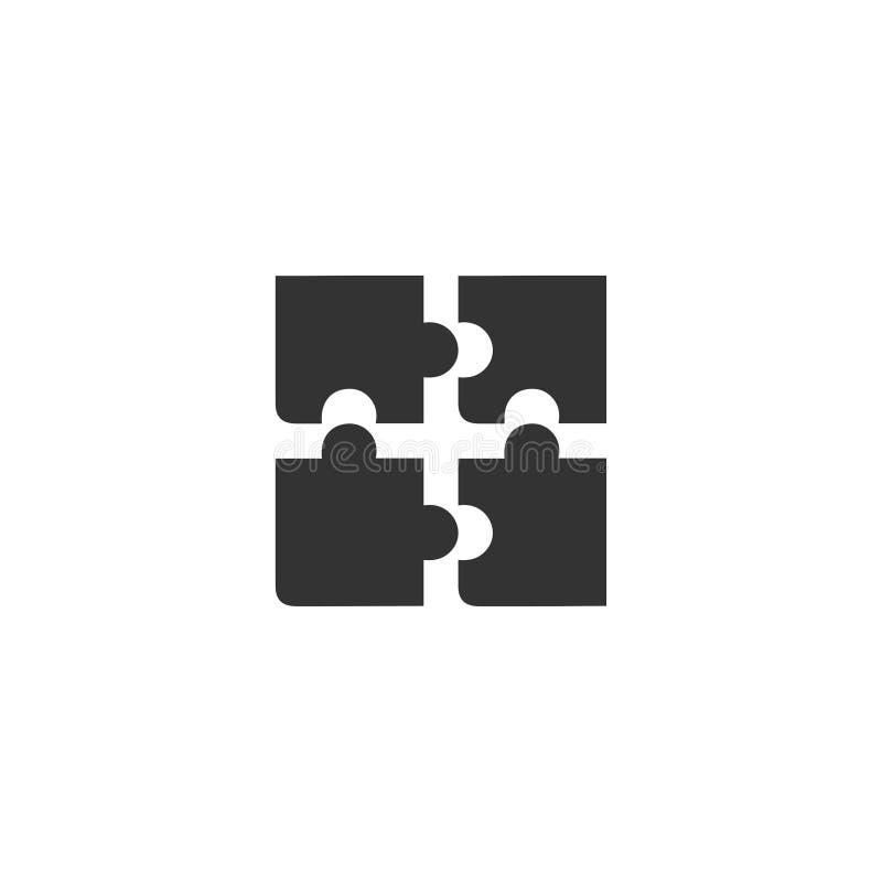 Appartement d'icône de puzzle illustration libre de droits