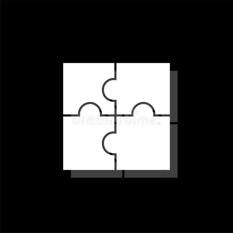 Appartement d'icône de puzzles illustration libre de droits