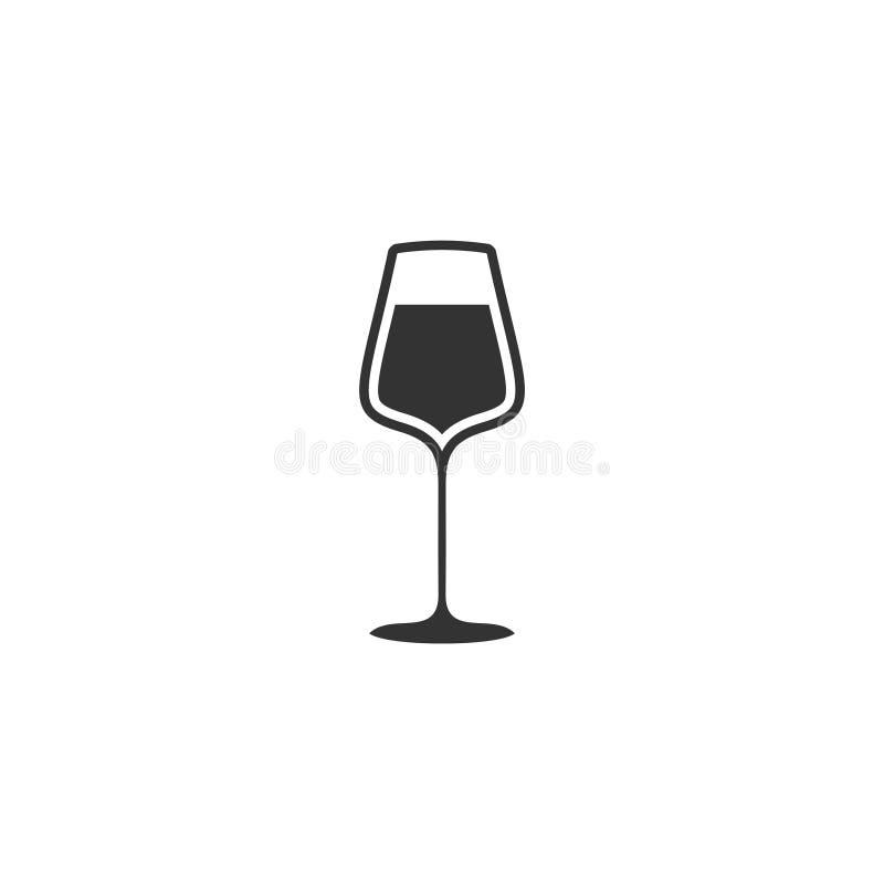 Appartement d'icône de verre à vin illustration stock