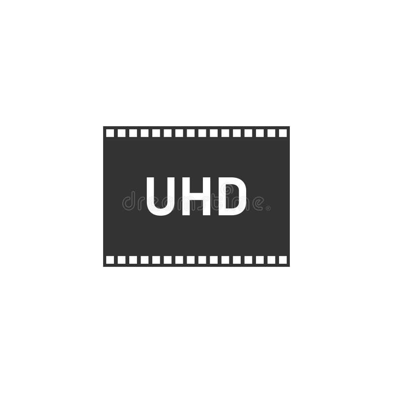 Appartement d'icône du TV Ultra HD illustration stock