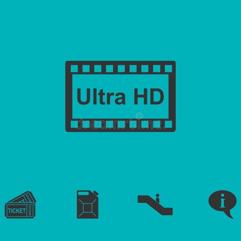Appartement d'icône du TV Ultra HD illustration de vecteur