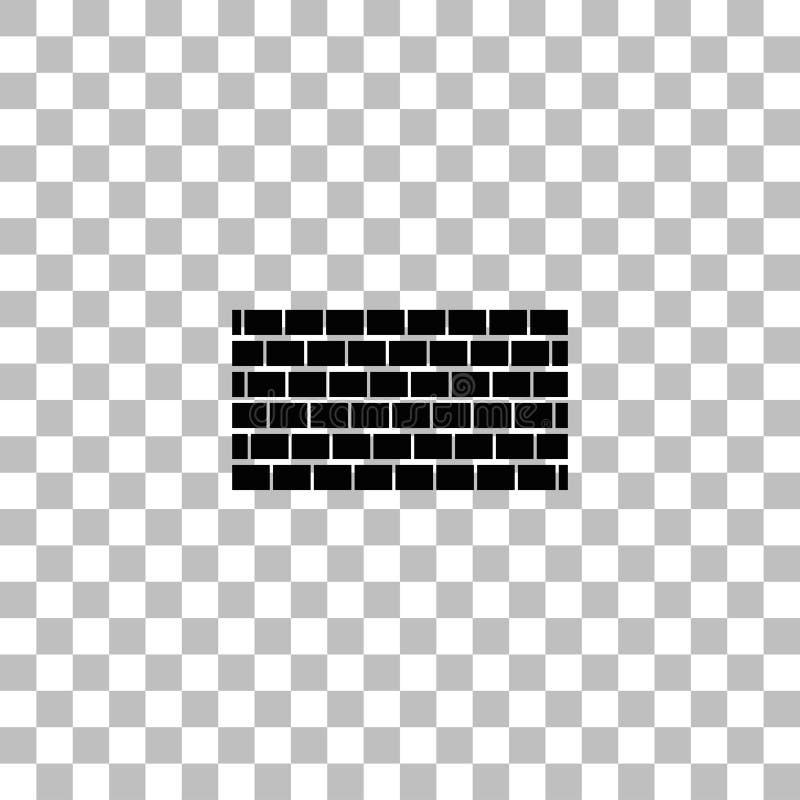 Appartement d'ic?ne de mur de briques illustration stock