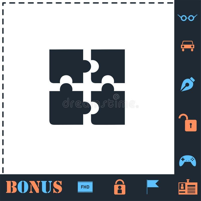 Appartement d'ic?ne de puzzle illustration de vecteur