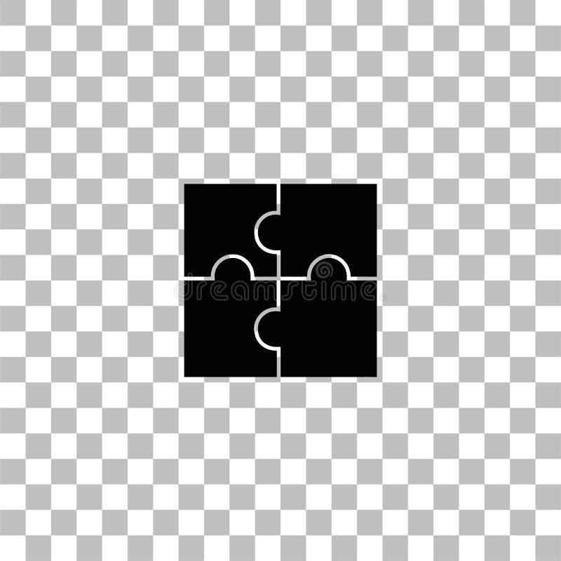 Appartement d'ic?ne de puzzles illustration stock