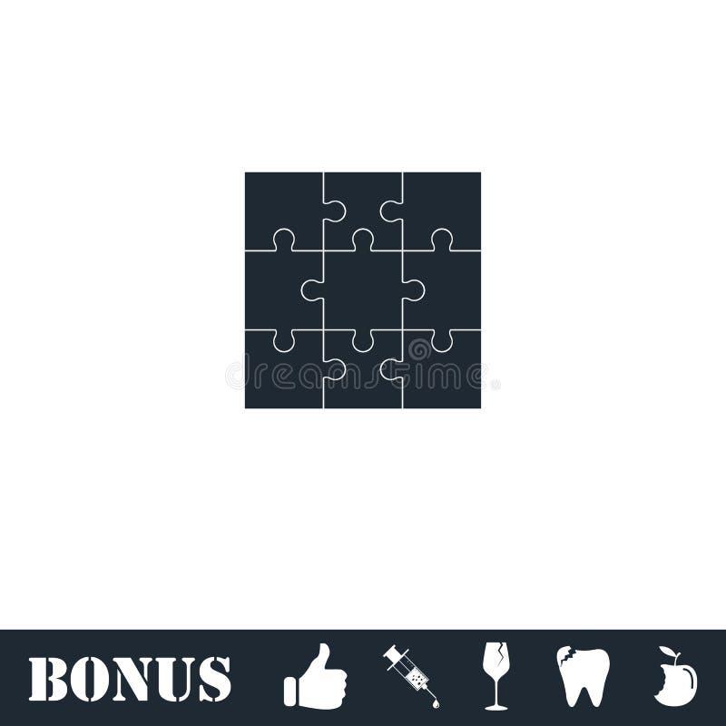 Appartement d'ic?ne de puzzles illustration libre de droits
