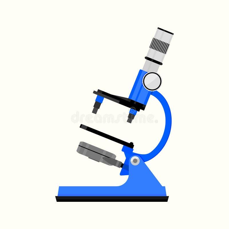 Appartement d'isolement par microscope illustration stock
