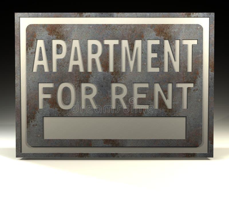 Appartement de signe d'information pour le loyer illustration de vecteur