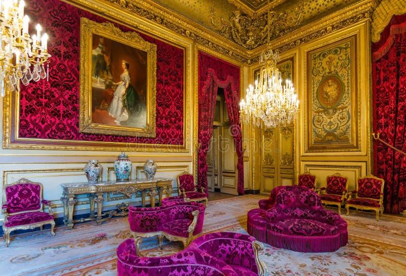 Appartement du napoléon III au musée de Louvre photographie stock libre de droits