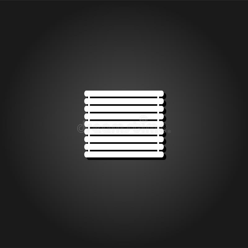 Appartement en bois d'icône de radeau de rondins illustration libre de droits