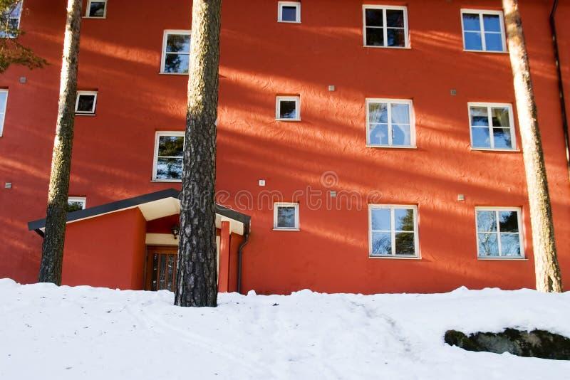 Appartement en hiver photo libre de droits