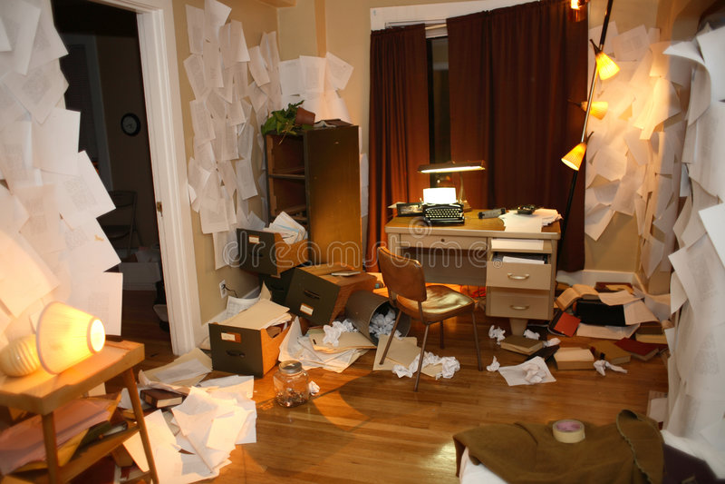 Appartement malpropre image stock