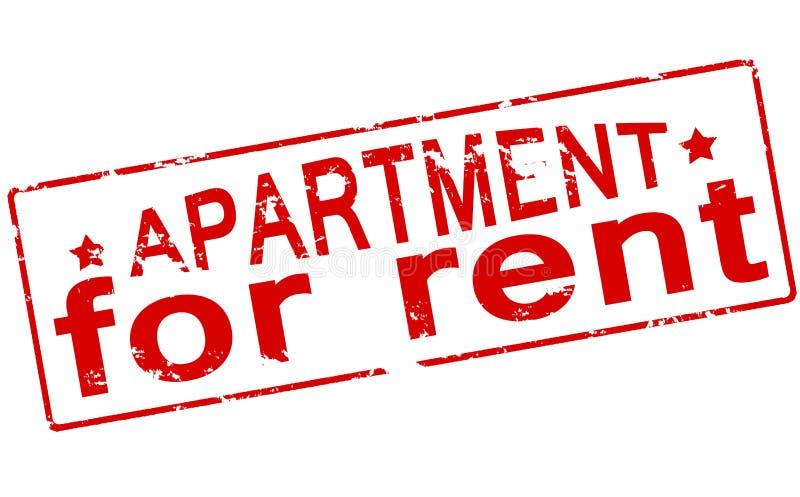 Appartement pour le loyer illustration stock