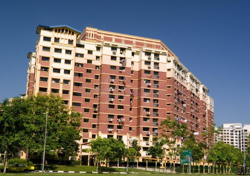 Appartement résidentiel de boîtier à Singapour images stock